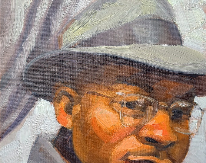 Everyday Hero, oil on canvas panel 9x12 inches by Kenney Mencher