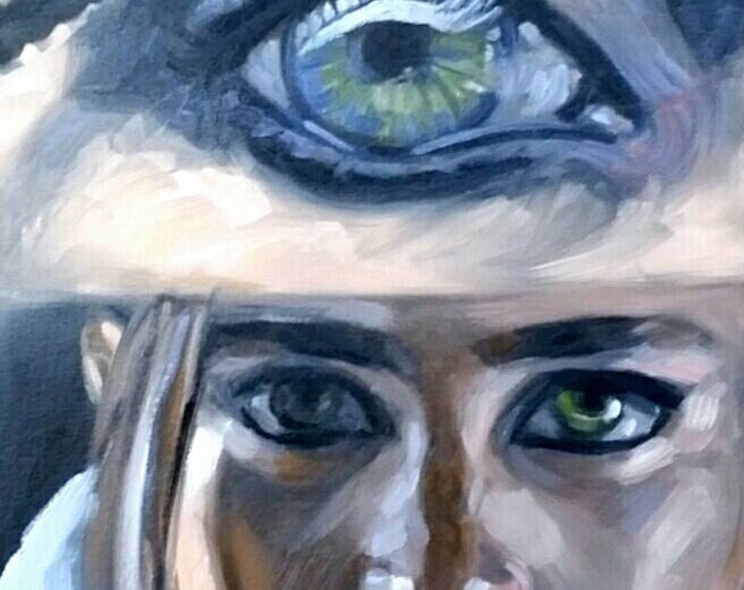 Fatal Femme, oil on canvas panel, 16x20 inches by Kenney Mencher