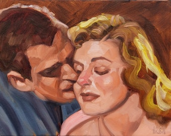 Retro Lover, oil on canvas panel, 11x14 inches by Kenney Mencher