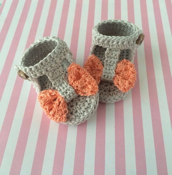 Items similar to Baby shoes, crochet baby sandals, summer ...