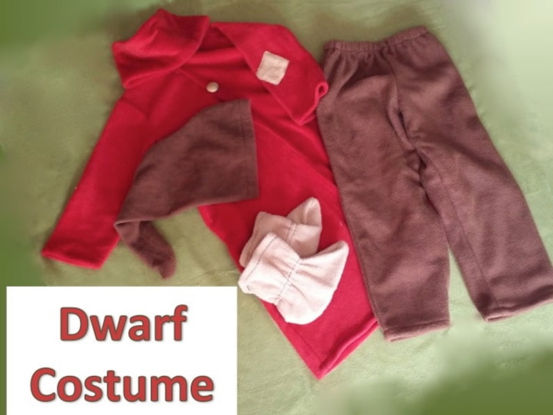 Grumpy Dwarf Inspired Costume Coat, Pants, Hat, Shoes and Belt - Child  sizes - FREE shipping