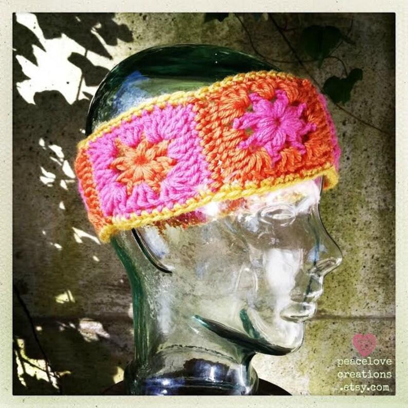 Granny Square Headband~Ready to ship~FREE SHIPPING