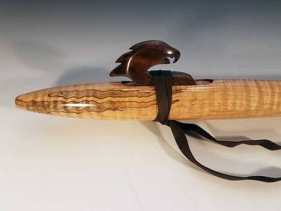 Native American Style Flute, Curly-Wormy Maple, low D