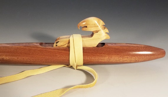 Native American Style Flute, Sapele, mid A