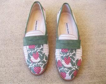 1980s Manolo Blahnik designer shoes Strawberry Fields Flats 39 size 8