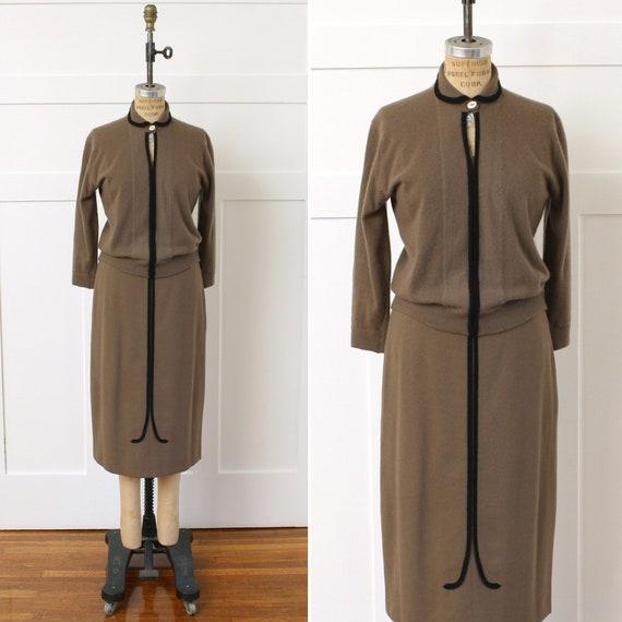ON SALE vintage 1950s cashmere sweater set • peek-