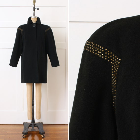 ON SALE vintage 1940s coat with dramatic padded sh