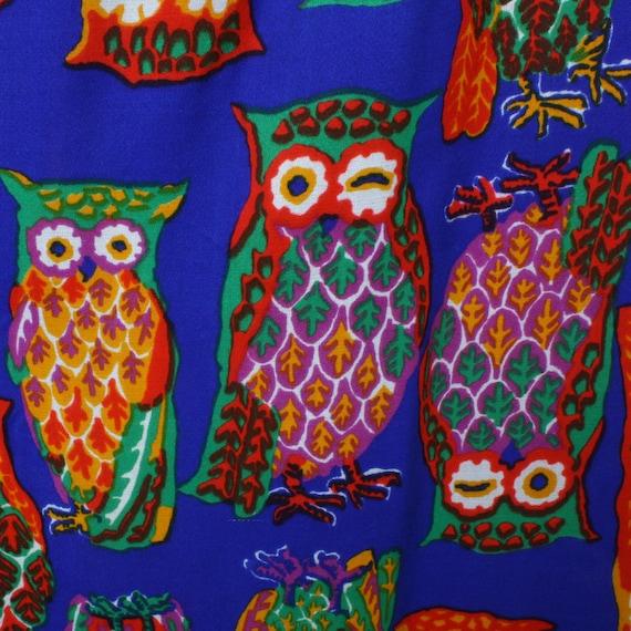 vintage 1970s muu muu dress • bright psychedelic … - image 4