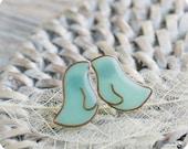 Mint Birds Earrings - Post Studs Earrings - Mint Bird Jewelry