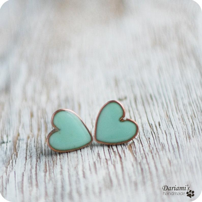 Heart Earrings /Stud image 0