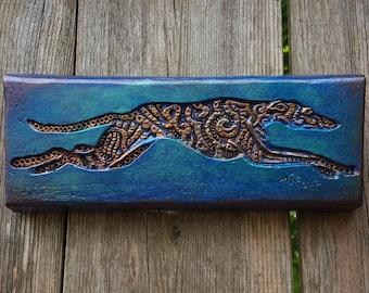 Greyhound Sculpture Dog Mom Gift, Greyhound Rescue Memorial, Italian Greyhound Dog Lover Garden Art