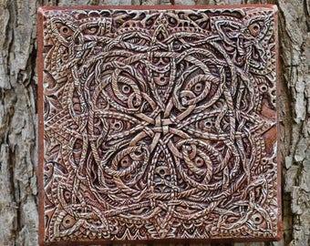 Wall Art Celtic Gift, Celtic Knot Garden Art Gift, Irish Stone Sculpture,  Irish