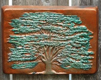 Cedar of Lebanon Garden Gifts, Evergreen Tree Outdoor Sculpture, Lebanese Wall Art