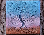 Sunset Tree of Life Front Porch Decor, Garden Gifts, Outdoor Wall Art Sculpture