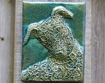 Greyhound Sculpture Dog Wall Plaque, Greyhound Art, Pet Decor, Italian Greyhound Dog Stone Art, Pet Portrait, Greyhound Rescue