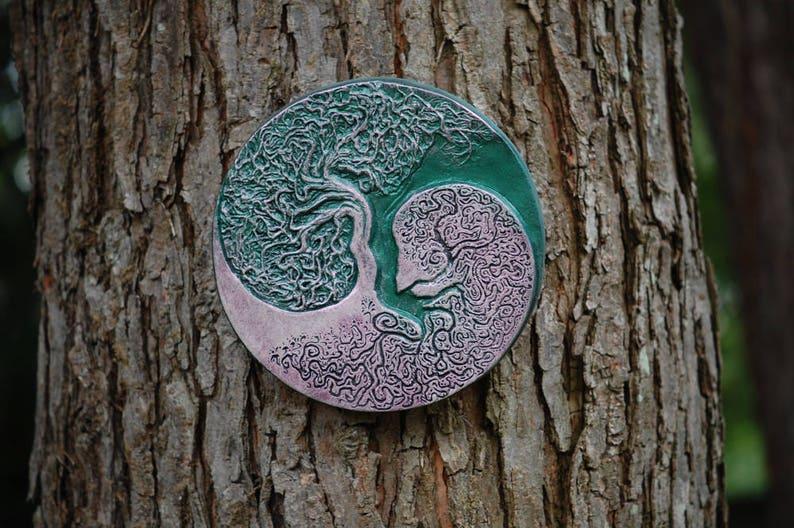 Yin Yang Tree of Life Garden Sculpture Healing Tree Sacred image 0