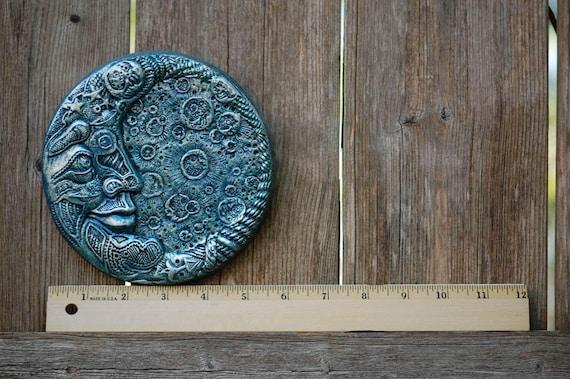 Blue Moon Stone Garden Art Moon Sculpture Man In The Moon