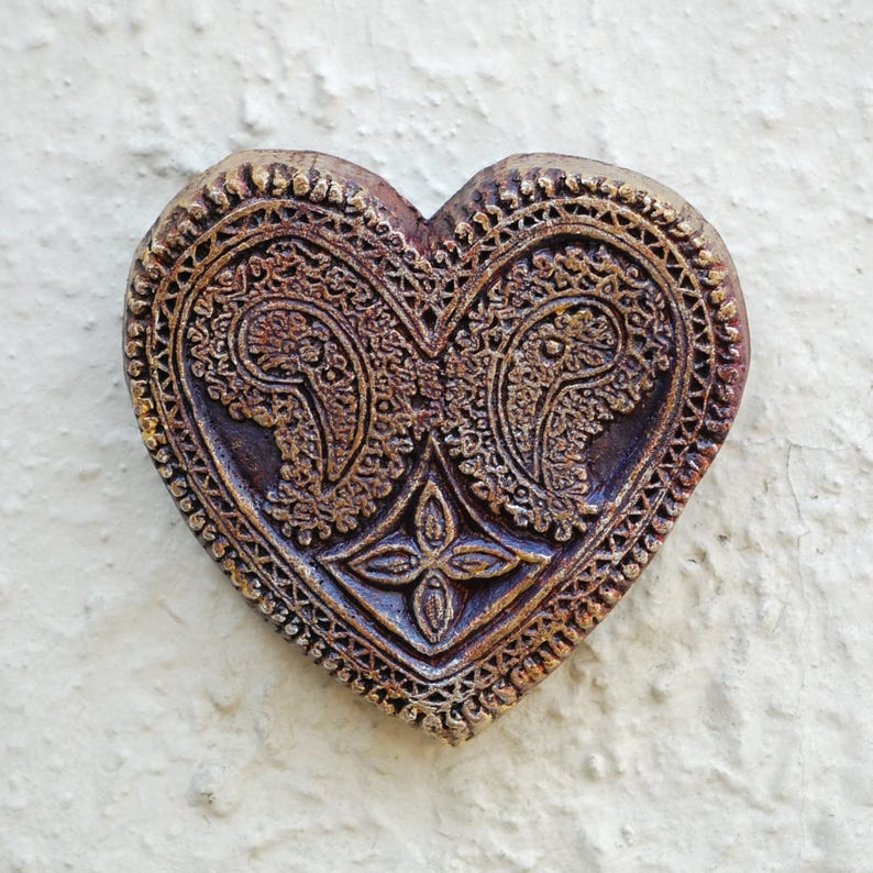 Garden Gifts Heart Art Sculpture Paisley Heart Outdoor or image 0