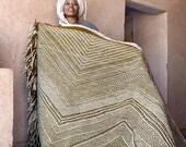 Large Moroccan Wool Rug - Zigzag Pattern Flatweave