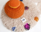 Wool Rug for Kids - Round RUG Mix Colors