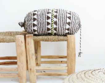 Pillow Crochet Marrakech  -  Gray-brown triangles