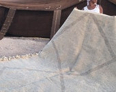 Large Moroccan Wool Rug - SHADAOUI Kilim - Diamonds Gray