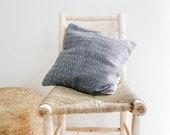 Cotton Pillow Cover - Grey Geometric patern