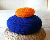 Floor Cushion Crochet -  blue