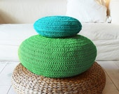 Floor Cushion Crochet - green