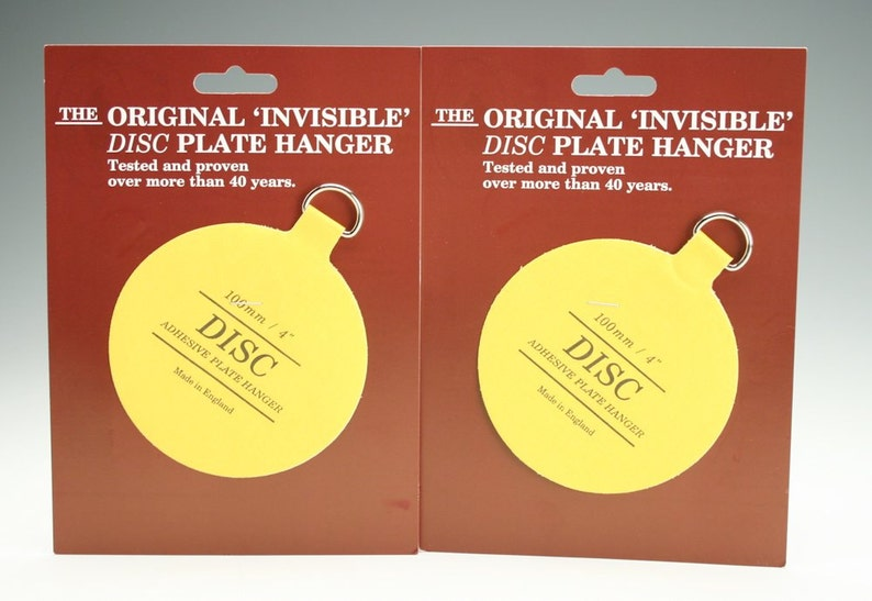 2 4 For Plates Up To 12 Large Plate Hangers Invisible Disc Plate Walls Hanger Set of Two