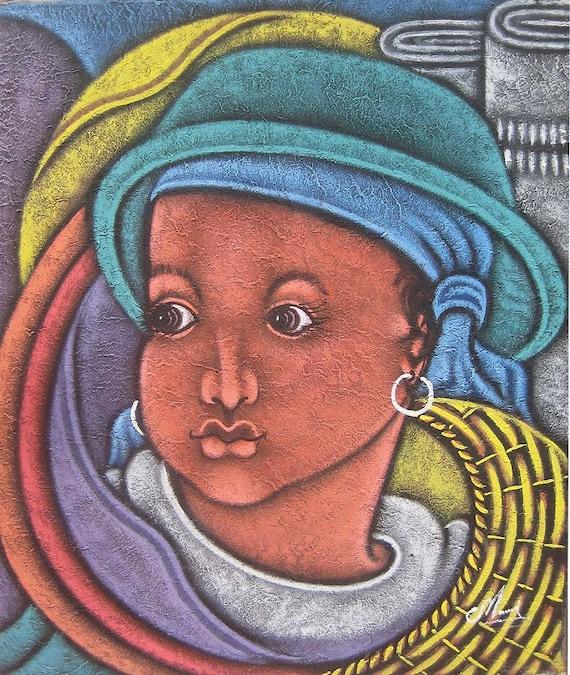 Canvas Painting, Haitian Painting, Haitian Art, Original Painting, Canvas Wall Art, Art of Haiti, Canvas Art, 20 x 24