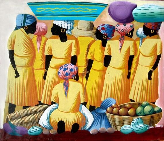 Canvas Painting, Haitian Painting, Haitian Art, Original Painting, Canvas Wall Art, Art of Haiti, Canvas Art, Hand Painted, 20 x 24