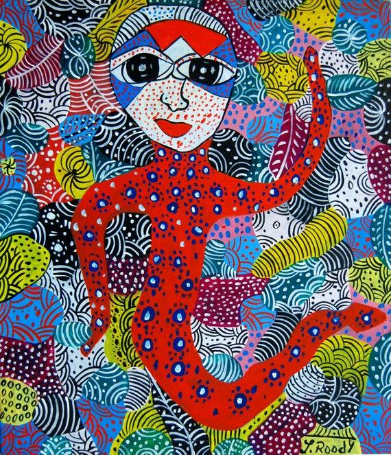 "Haitian Art, Canvas Wall Art, Art of Haiti, Canvas Painting, Haitian Painting, Canvas Art, Original Painting, Hand Painted Art,  20"" x 24"""