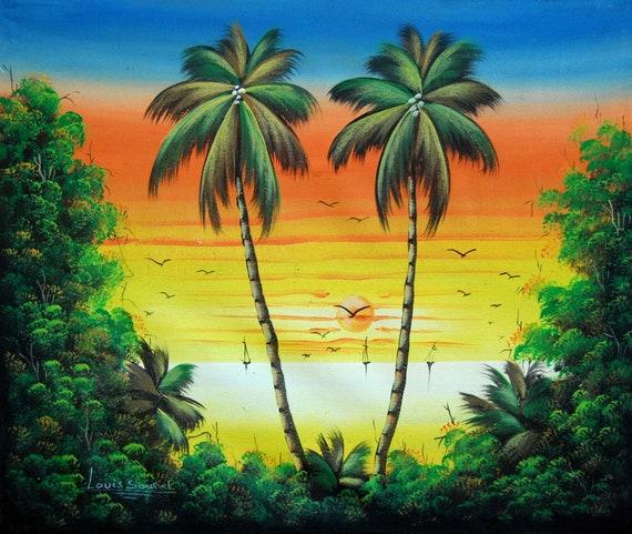 "Haitian Art, Canvas Painting, Original Painting, Canvas Art, Haitian Painting, Hand Painted Art, Art of Haiti, Canvas Wall Art,  20"" x 24"""