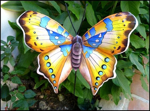 Butterfly Plant Stake, Garden Art, Plant Stick, Garden Decor, Yard Decor, Metal Art, Plant Marker, Outdoor Decor, Patio Art - PS-513-GL