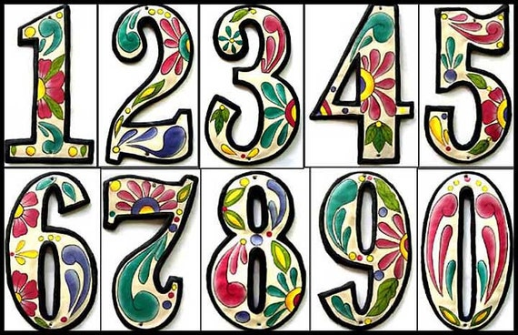 "1 Address Number, Metal House Numbers, 4 1/2"", Painted Metal Address Sign, Metal Numbers, Haitian Art, Recycled Steel Drum, AD-100-4W"
