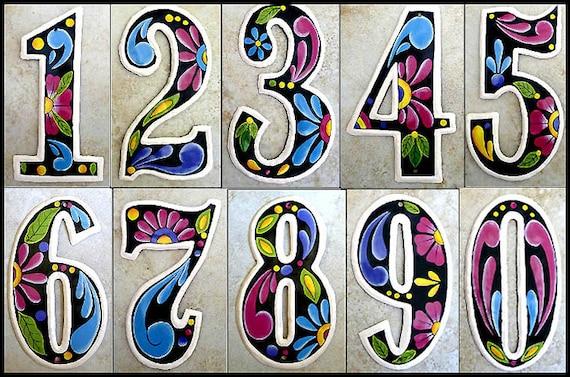 """1 House Numbers, 7 1/2"""" Metal Address Numbers, Decorative Numbers, Recycled Steel Drum, Number, Painted Metal Art - Yard Art - AD-100-7-BK"""