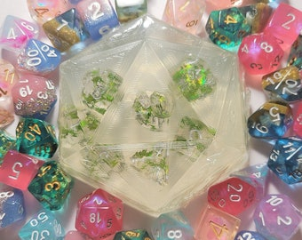 D20 Shaped Soap with full set of dice - Choose your scent