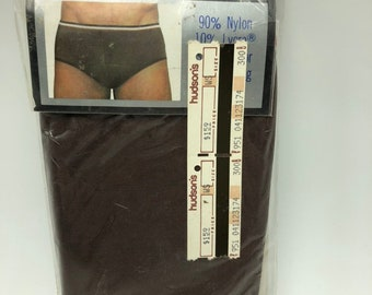d9629312f83d Vintage 1970s Generation Two Low Rise Briefs Brown Nylon Large 36 38 Mens  Underwear
