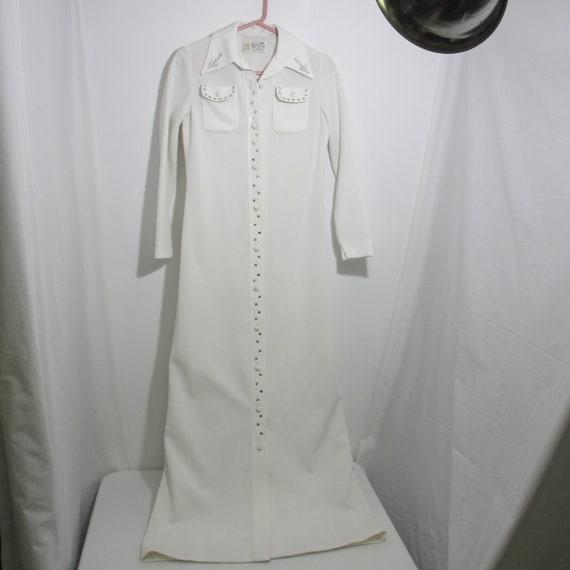 Vintage Leslie Fay Knits White Dress/Rhinestones