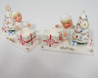 Vintage Set of Napco Angel Candle Holders