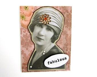 friendship love card 1920s vintage fashion fabulous lady ephemra card