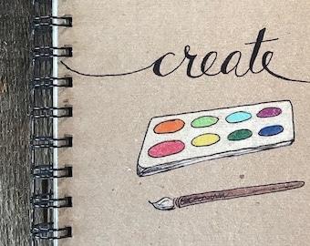 Create   Spiral Notebook   Reclaimed Paper   Journal