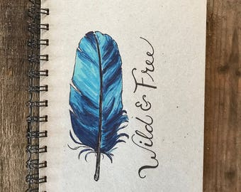 Wild & Free   Spiral Notebook   Reclaimed Paper   Journal