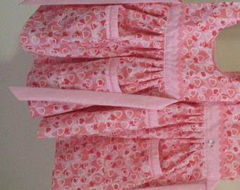 Pinafores - Pink Glitter Hearts