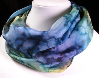 Scarf, Silk Scarf, Hand Painted Silk Scarf, watercolor scarf, Gift for Her, Quintessence Silk - Watercolor Dream