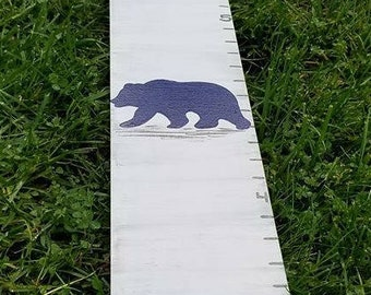 Growth Chart Wooden Growth Chart Ruler Height Chart Bear Animal Theme Nursery Wall Art Bedroom Decor Personalized Chart Free Shipping