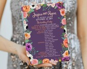 Custom Floral Wedding Programs, Design Fee