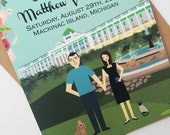 Mackinac Island Wedding, Discounted Wedding Bundle, Wedding Invitations, Grand Hotel Wedding, Custom Wedding Invitation, Design Fee