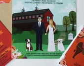 Custom Pet Illustration, Custom Child Illustration, or Custom Animal Illustration, Wedding Invitation Add-on, Design Fee